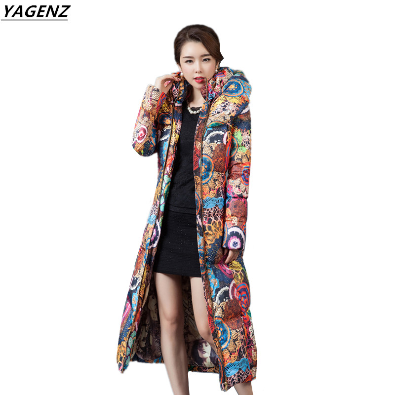 Women Winter Coat 2017 New Winter Collection Thick Warm Cotton-padded Women Basic Coats High Quality Long Overcoat YAGENZ A45 swenearo 2017 new women thick warm coat hooded high quality cotton padded winter jacket women ladies coats winter collection