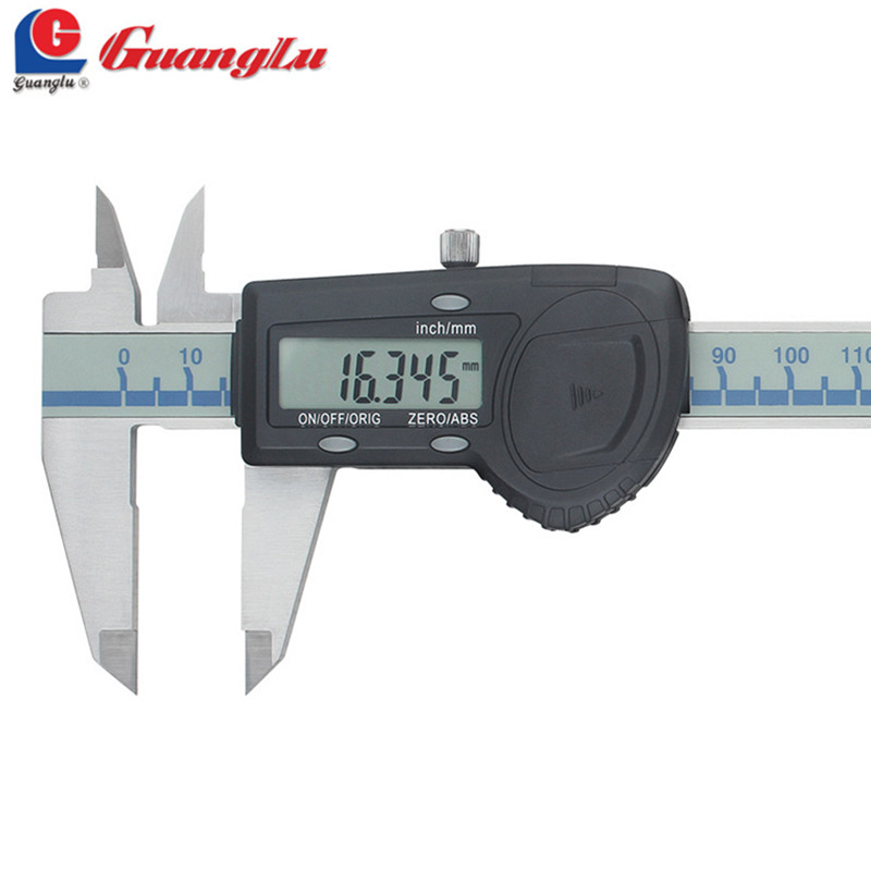 GUANGLU High Precision 0.005mm Digital Caliper 0-150mm Stainless Steel Vernier Caliper Micrometer Digital Measuring Tools vernier caliper 150mm high precision fine analysis wear