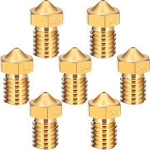 1 pcs 3D Printer Parts V5 V6 M6 threaded Nozzle 0.2 0.25 0.3 0.4 0.5 0.6 0.8 1.0mm for 1.75mm 3.0mm filamnet Full Metal E3D New