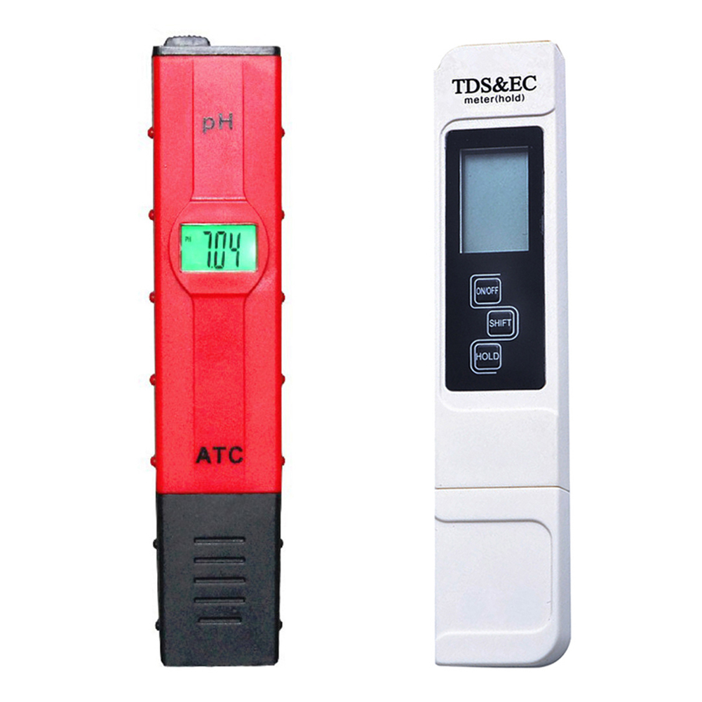 Professional 2pcs Portable Digital PH Meter TDS EC Tester Water Tester Meter Pen LCD Monitor Aquarium Pool Measuring Tools brand kedida digital tds meter pen type 0 1000 ppm lcd electrical conductivity meter atc aquarium pool water quality tester