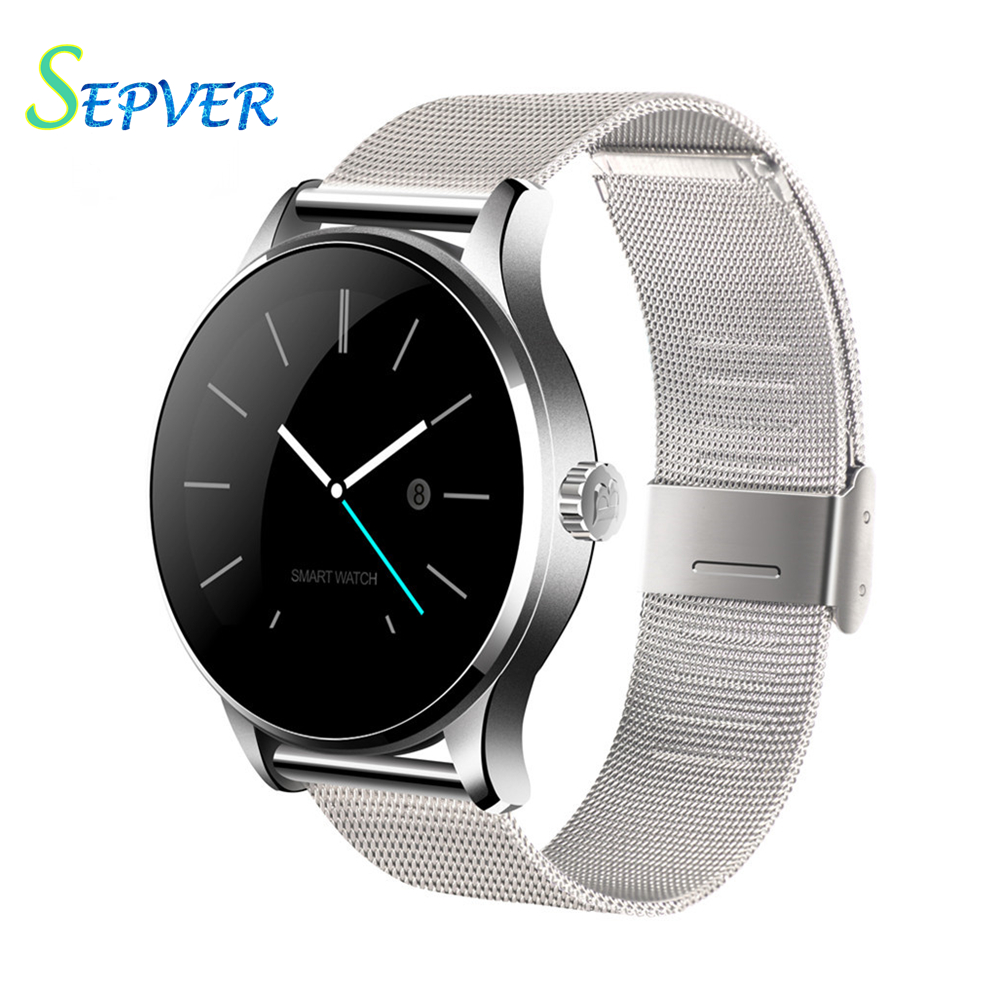 2016 new K88H Smart Watch With 1 22 Inch IPS Round Screen Support Anti lost Heart