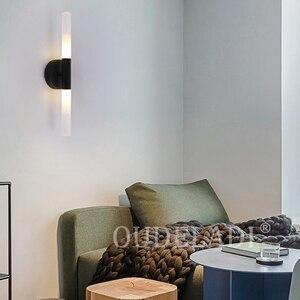 Image 5 - Moderne Metalen Buis Pijp Up Down Led Wall Lampen Slaapkamer Foyer Wasruimte Woonkamer Wc Badkamer Muur Licht Lamp