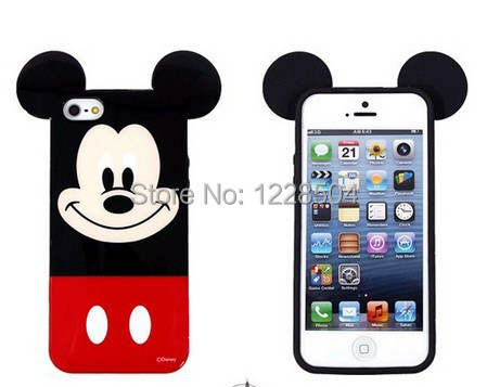 soft TPU cute Disny mickey mouse minnie phone case ipone 6 6p 5 5s 4 4s - long yang way store
