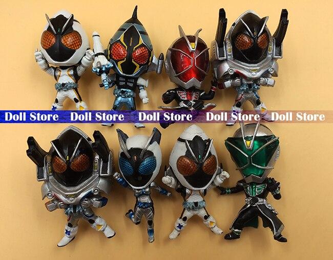 8pcs/lot Pvc 5cm Japanese Anime Figure Masked Rider/Kamen Rider Action Figure Kids Toys For Boys Collection Model Toys
