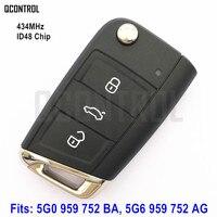 QCONTROL Remote Key Suit For VW VOLKSWAGEN GOLF VII 7 MK7 5G0959752BA 5G0 959 752 BA