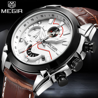 2018 MEGIR New Brand Man Quartz Watches Mens Military Sport Watch Men Fashion Casual Waterproof Wristwatch