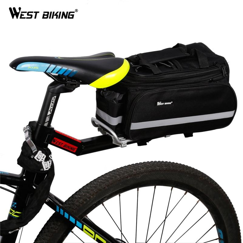Bike Bicycle Luggage Carrier Rear Racks Reflector Shelf Cycling Seat Bag Stand
