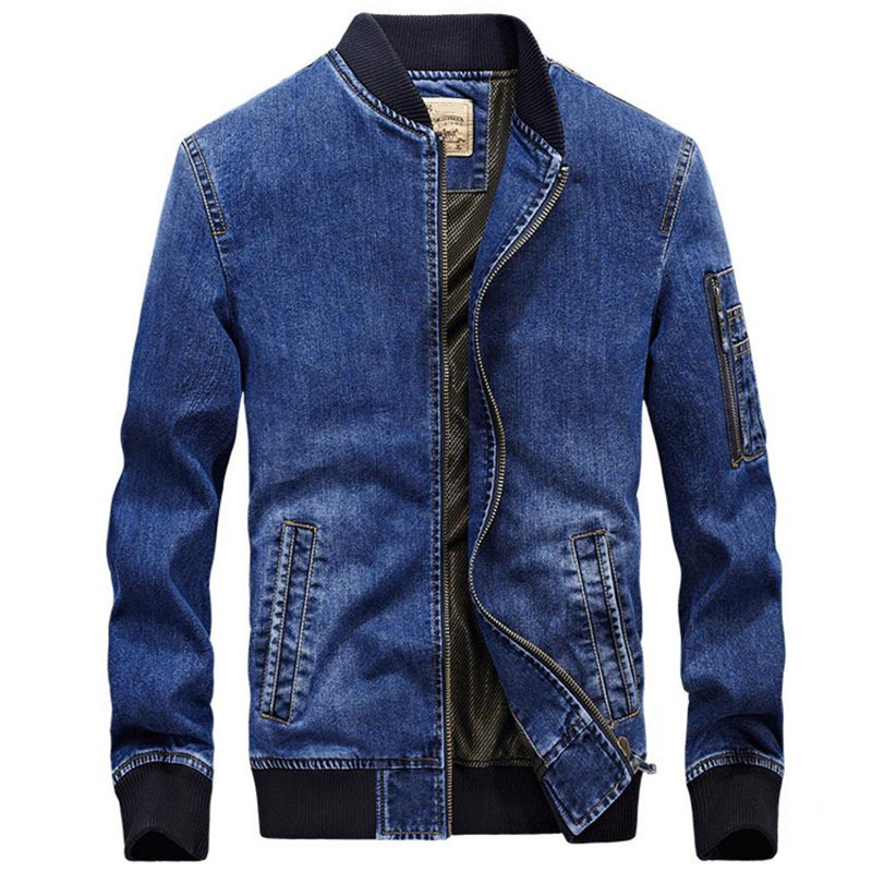 2018 Men's Denim Jacket New Fashion Autumn Men's Denim Jacket coat Solid color