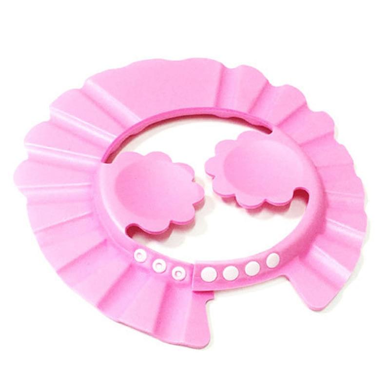 Регулируемый 3 мм мягкий EVA ребенок малыш ванная комната шапочка для ванны и душа мыть волосы Щит шампунь защиты глаз наушники