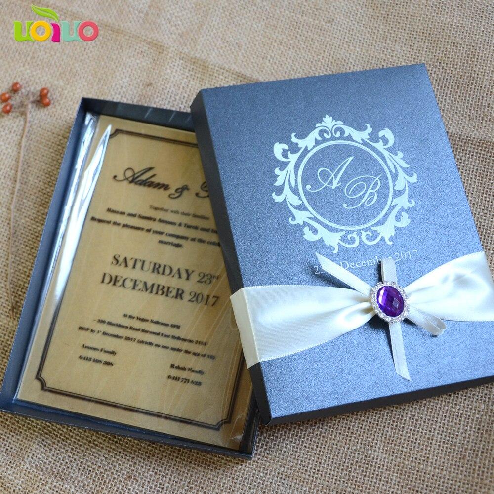 Box Wedding Invitations: Acrylic Wedding Invitation, Laser Cut Custom Wordings