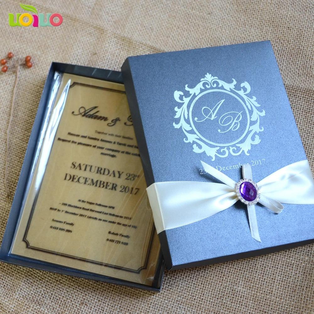 invitation de mariage en acrylique carte d invitation de mariage decoupee au laser personnalisee avec boite