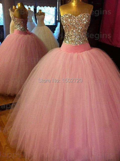 Baratos Fotos Reales de Cristal vestido de Bola Vestidos de Quinceañera 2017 Vestidos De 15 Anos Vestido de Fiesta Formal Vestido de Los Vestidos de 15 años