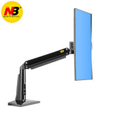 New NB F37 Aluminum Full Motion 24-37 inch Monitor Holder Gas Spring Long Arm Desktop Monitor Mount Support with USB3.0