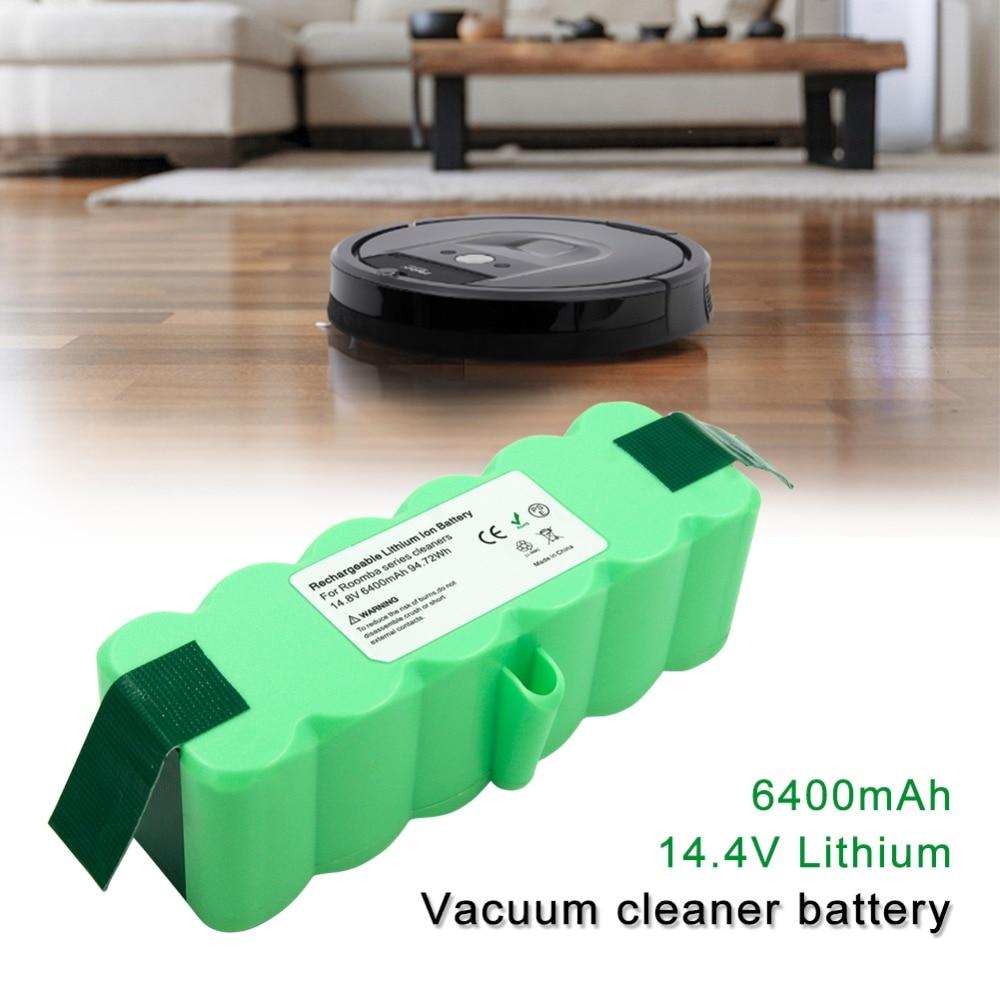 6400 mah 14.4 v Al Litio Ricaricabile Batteria Per iRobot Roomba R3 500 520 550 560 570 595 600 620 660 700 770 780 790 800 900