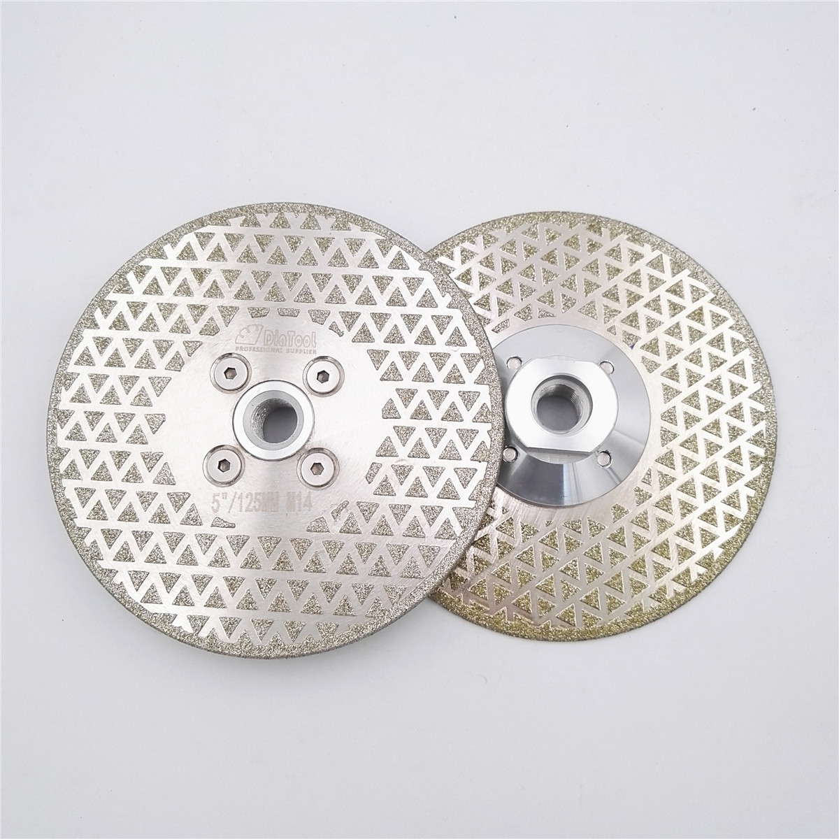 цена на DIATOOL 2pcs 5 electroplated diamond cutting and grinding disc for granite marble with double grinding sides M14 Flange