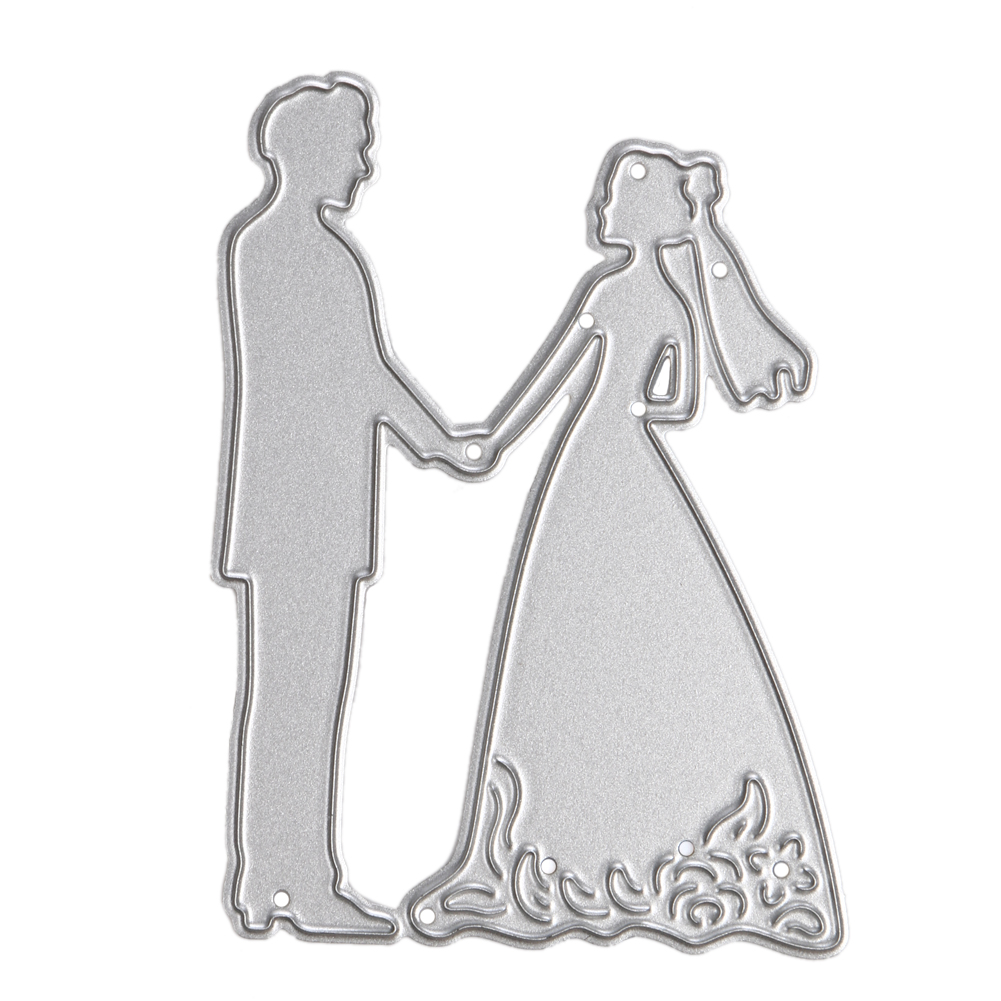 1pc Bride Groom Wedding Couple Metal Cutting Dies Stencils DIY Scrapbooking Album Decorative Embossing Folder Suit Drop Shipping