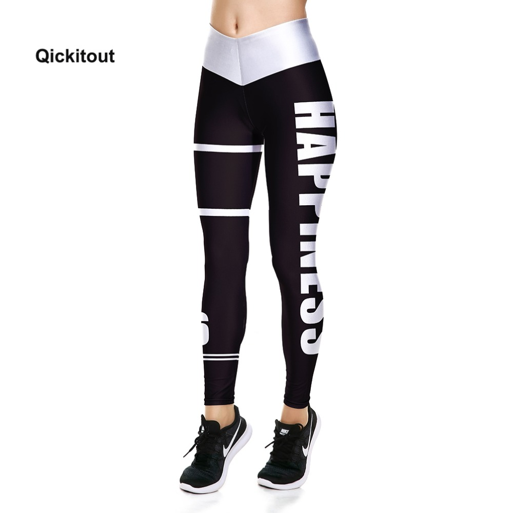 Women Summer Pants Skinny Fitness Leggings Workout Casual Print Happiness Pants Legins Legging Fitness Trousers Women