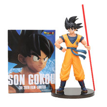 Anime dragon ball z Goku figuras de ação Brinquedos Super Dragon Ball son goku O 20th Filme Limitado Figura dragonball Modelo brinquedos de presente(China)
