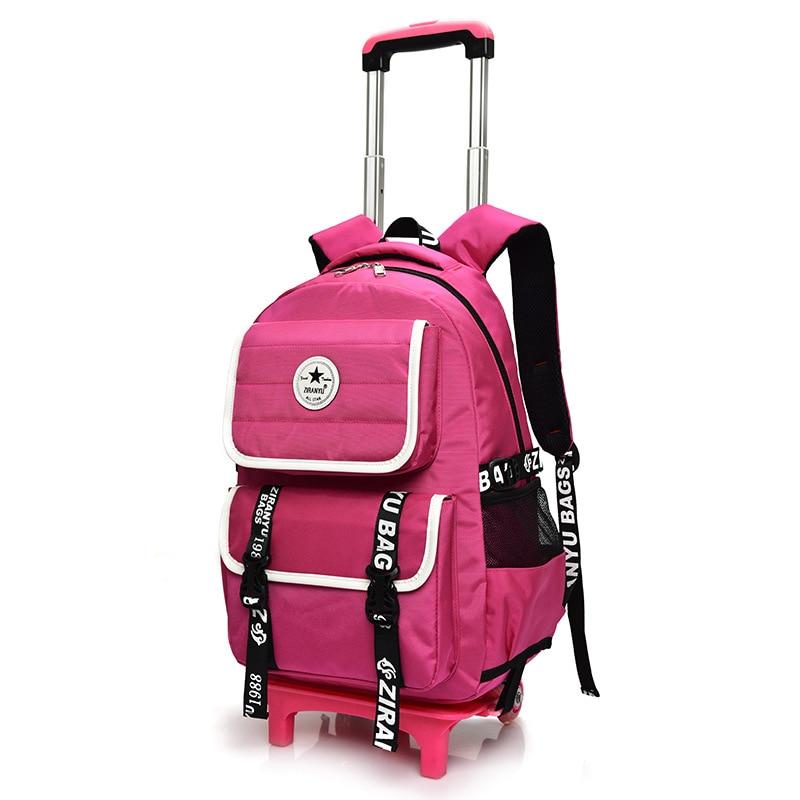 Sac 3 Voyage À Mochilas Pink Blue Dos D'école École Roues 2 Cartable Enfants Chariot 6 Pink Garçons Wheel 6 Pour Roulant Filles 2 Black Xwd6nCqP