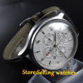 Parnis 43mm Automatic Men's watch Japan 26 jewelry 9100 movement Sapphire watch