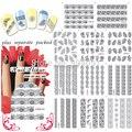 2015 más reciente 90 unids/lote Serie de Encaje de Uñas Tatuaje del clavo ETIQUETA del AGUA del clavo para uñas herramienta