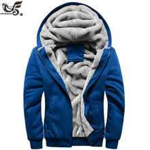 new Men Winter Coats Fleece Warm Thick Cotton-Padded Jackets Men Outer