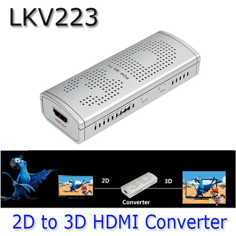 LKV223 Neue 2D nach 3D HDMI Video Converter Box Für TV film Blu ray ...