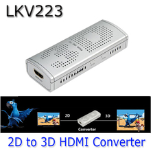 LKV223 New 2D to 3D HDMI Video Converter Box For TV Movie Blue-Ray DVD Set-top Box 2D-3D ViewHD 1080P Amber/Blue 3D /SBS 3D