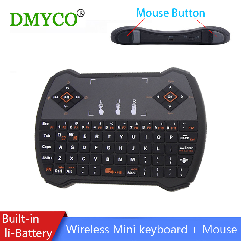 Wireless Gaming Keyboard Russian English Teclado Gamer Mini keyboard 2.4Ghz with Air Mouse TouchPad for Android TV BOX Tablet PC brand new mini wireless english bluetooth keyboard mouse touchpad for windows android pc