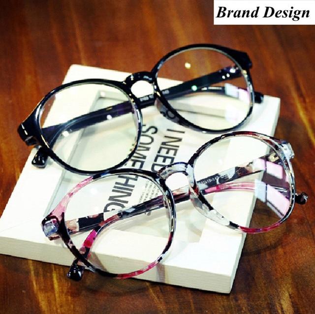 62d3495a1fec Brand Round Eyewear Frames eye glasses frames for Women Eyeglasses Women  Ladies Eyeglass Computer Mirror Plain