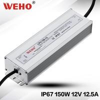 (Lpv-150-12) weho 2 jaar garantie waterdicht led driver ac naar dc 150 w 12 v kleine size power supply