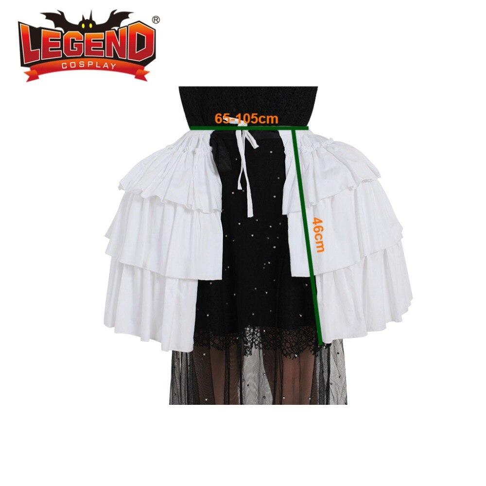 Women's White Crinoline Pannier Underskirt Victorian Dress 18th century rococo pannier double pannier