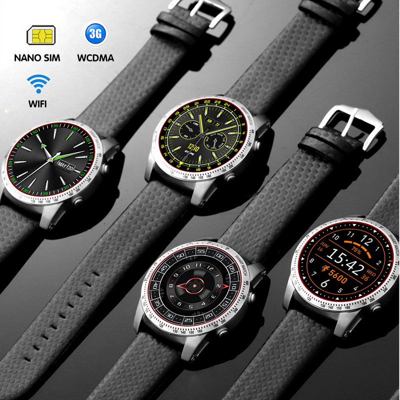 Original Android 5.1 Smart Watch 3G MTK6580 8GB Bluetooth SIM WIFI Phone GPS Heart Rate Monitor Wearable Devices kktick d6 smartwatch phone android 5 1 heart rate monitor smart watch wifi gps bluetooth 4 0 1 63 inch