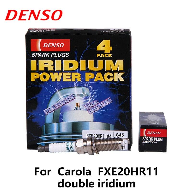 4pieces/set DENSO Car Spark Plug For Toyota Corolla Verso Nissan Micra Qashqai 1.6L X-Trail 2.0L/2.5L FXE20HR11 double iridium 4pieces set denso car spark plug for nissan gtr g25 nissan teana m37 double iridium fxe24hr11
