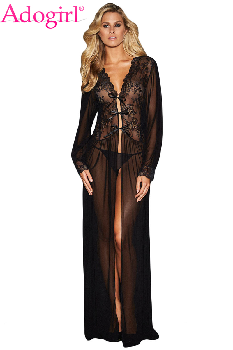 Sheer-Long-Sleeve-Lace-Robe-with-Thong-LC31037-2-1