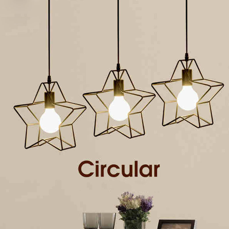 Creative parlor drop light adjustable chandelier restaurant star creative parlor drop light adjustable chandelier restaurant star shaped lamp exhibition hall drop light living room lighting in pendant lights from lights aloadofball Image collections