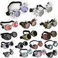 12 Colores Calientes de las Nuevas Mujeres de Los Hombres Gafas De Soldadura Gótico Steampunk Cosplay Antiguos Picos vitoriano Vendimia Gafas Barato