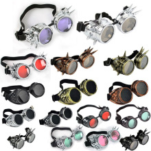 12 Colors Hot New Men Women Welding Goggles Gothic Steampunk