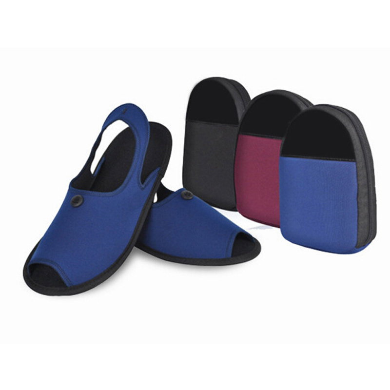 Portable travel series 2 in1foldable slippers set shoe bag