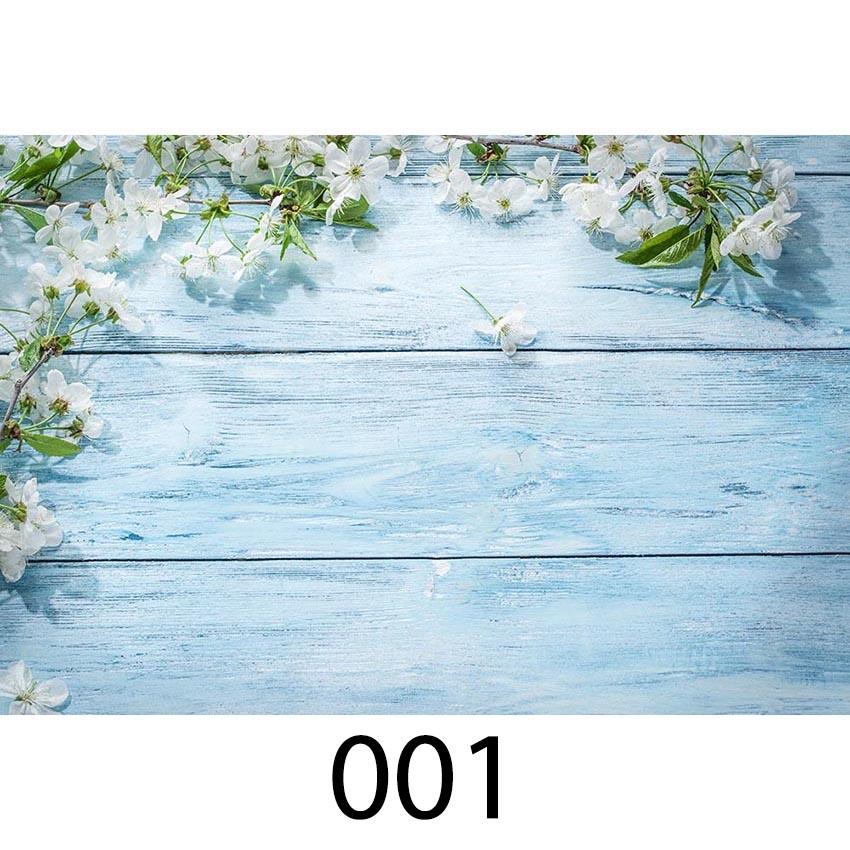 Fondo de fotografía de piso de madera telones de fondo de fotografía de recién nacidos fondo de flores de bebé para cabina de fotos tamaño pequeño impreso