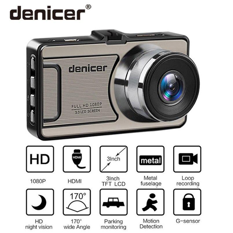 Denicer Dash caméra Novatek 96655 Voiture Caméra Full HD 1080 p DVR 170 Degrés Grand Angle 6g lentille Voiture véhicule Enregistreur Vidéo Dash Cam