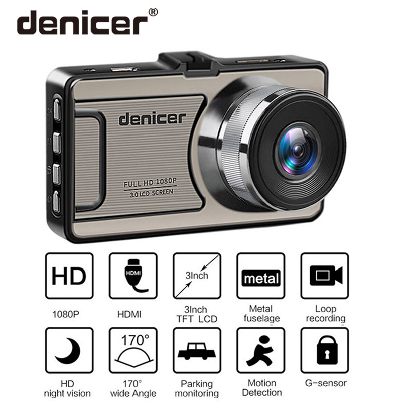 Denicer Dash camera Novatek 96655 Car Camera Full HD 1080P DVR 170 Degree Wide Angle 6G lens Car Vehicle Video Recorder Dash Cam цена