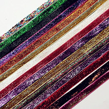 suoja (5Yards/lot) 3/8 10mm Glitter Velvet Ribbon Headband Clips Bow Wedding Christmas Decoration Pick Colors