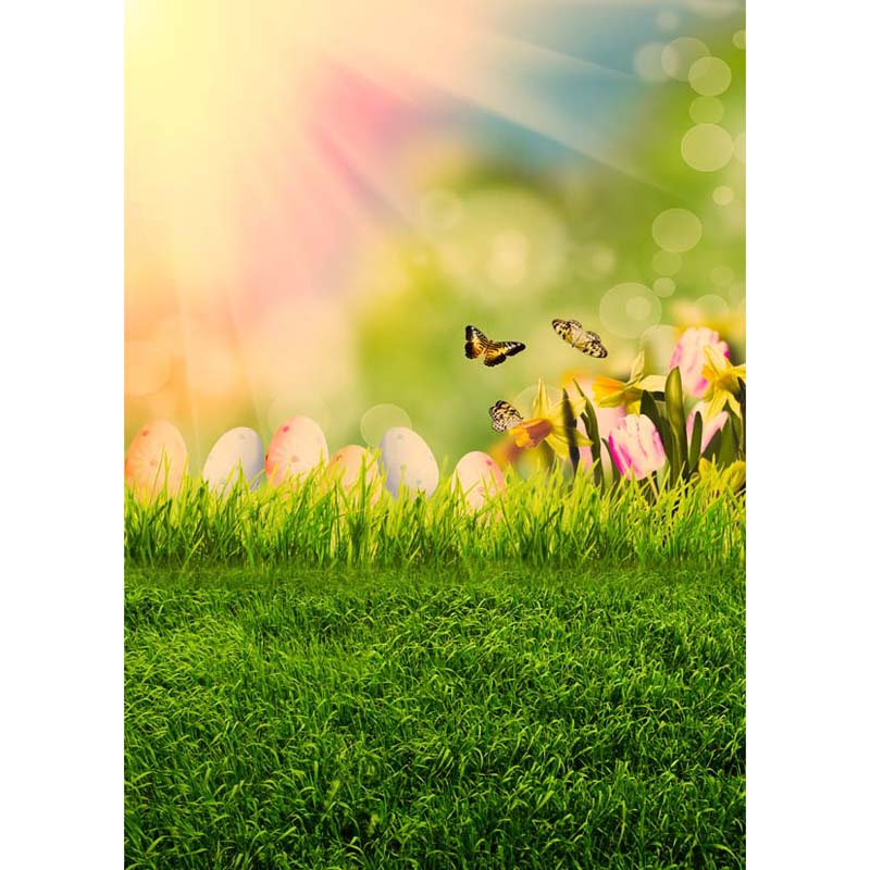 Happy Easter Vinyl Photography Background For Children Spring New Fabric Flannel Backdrop For photo studio Props GE-244 shengyongbao 300cm 200cm vinyl custom photography backdrops brick wall theme photo studio props photography background brw 12