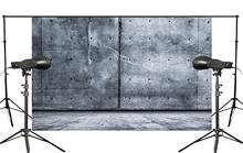 5x7ft Großen Blauen Stein Fotografie Hintergrund Hintergrund Leinwand Foto Studio Prop Wand