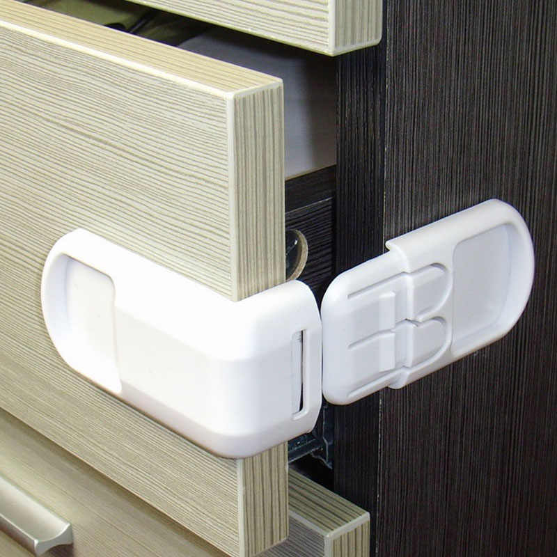 5pcs Plastic Baby Safety Protection From Children In Cabinets Boxes Lock Drawer Door Terminator Security Product