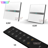 LTECH K1RF 1 Way K2RF 2 Waysmart Wall Mount Smart Touch Switch Panel Control For Led
