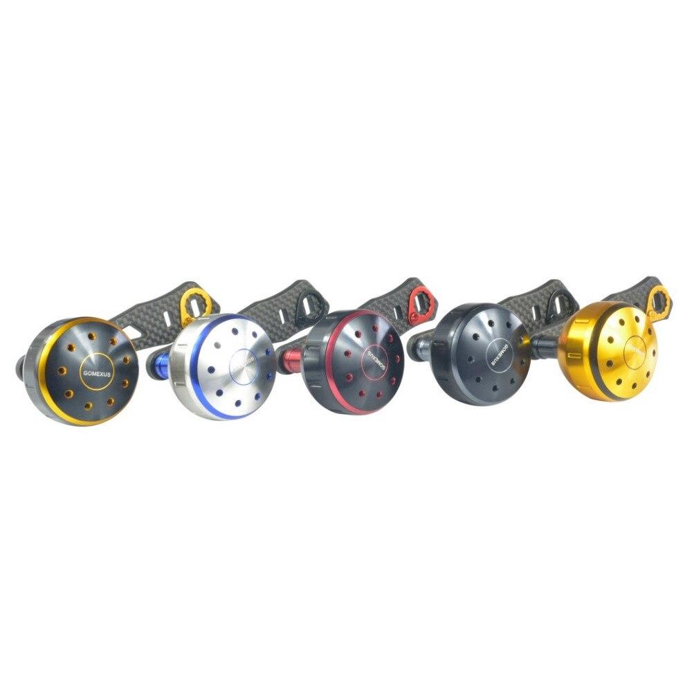 Power Handle Carbon Fiber For Daiwa Shimano Abu Garcia Baitcasting <font><b>Reel</b></font> 95mm With 39mm Knob Direct Fit Shimano A Daiwa S Gomexus