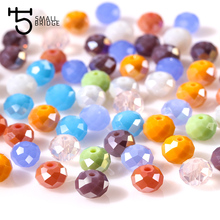 4 6 8 mm Czech Multicolor Rondelle Glass Beads Faceted Spacer Crystal Beads for Needlework Diy Decoration Lot of Bulk Sale Z181