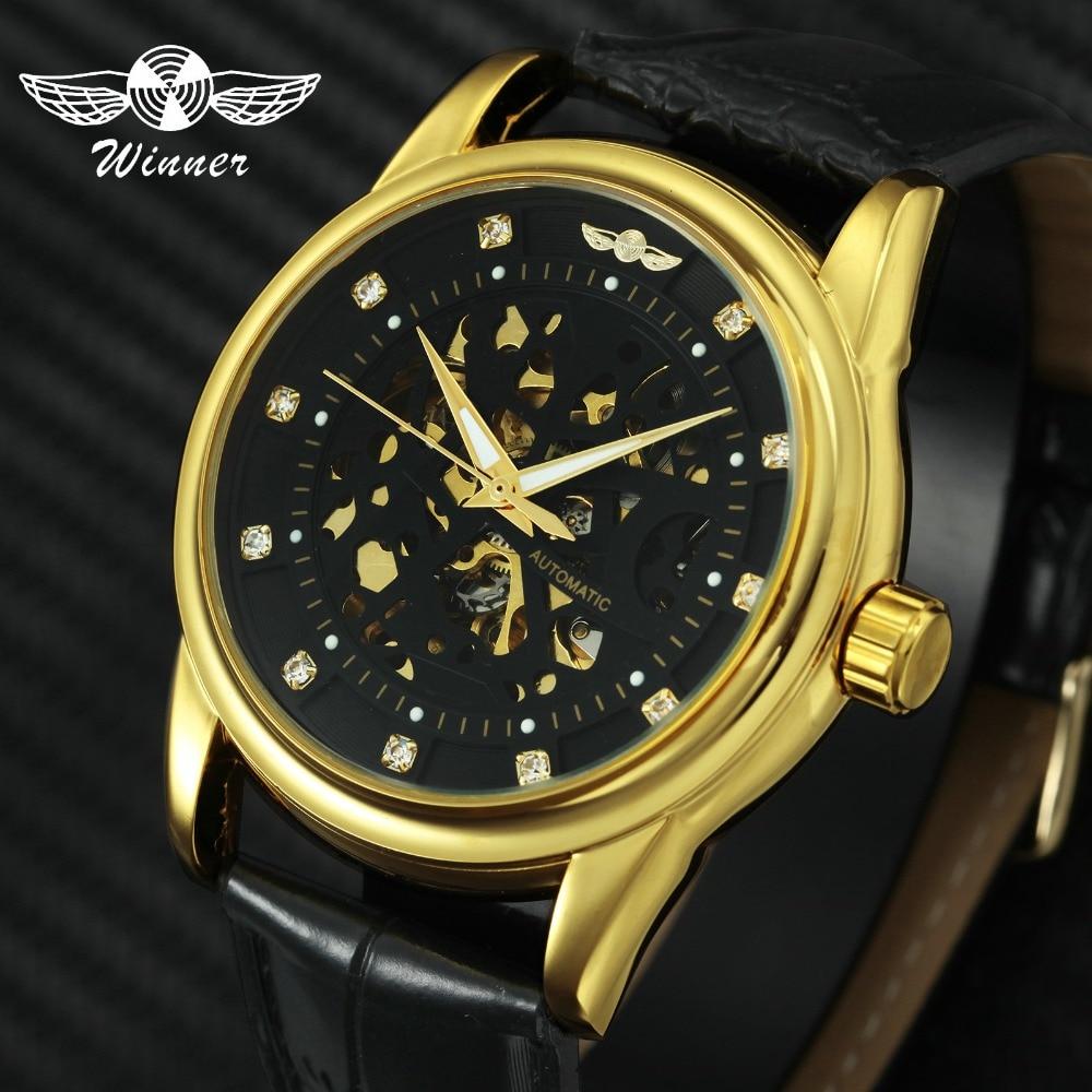 882a83f6312a 1643.08 руб. |Победитель Для мужчин Бизнес механические часы Скелет  циферблат ...